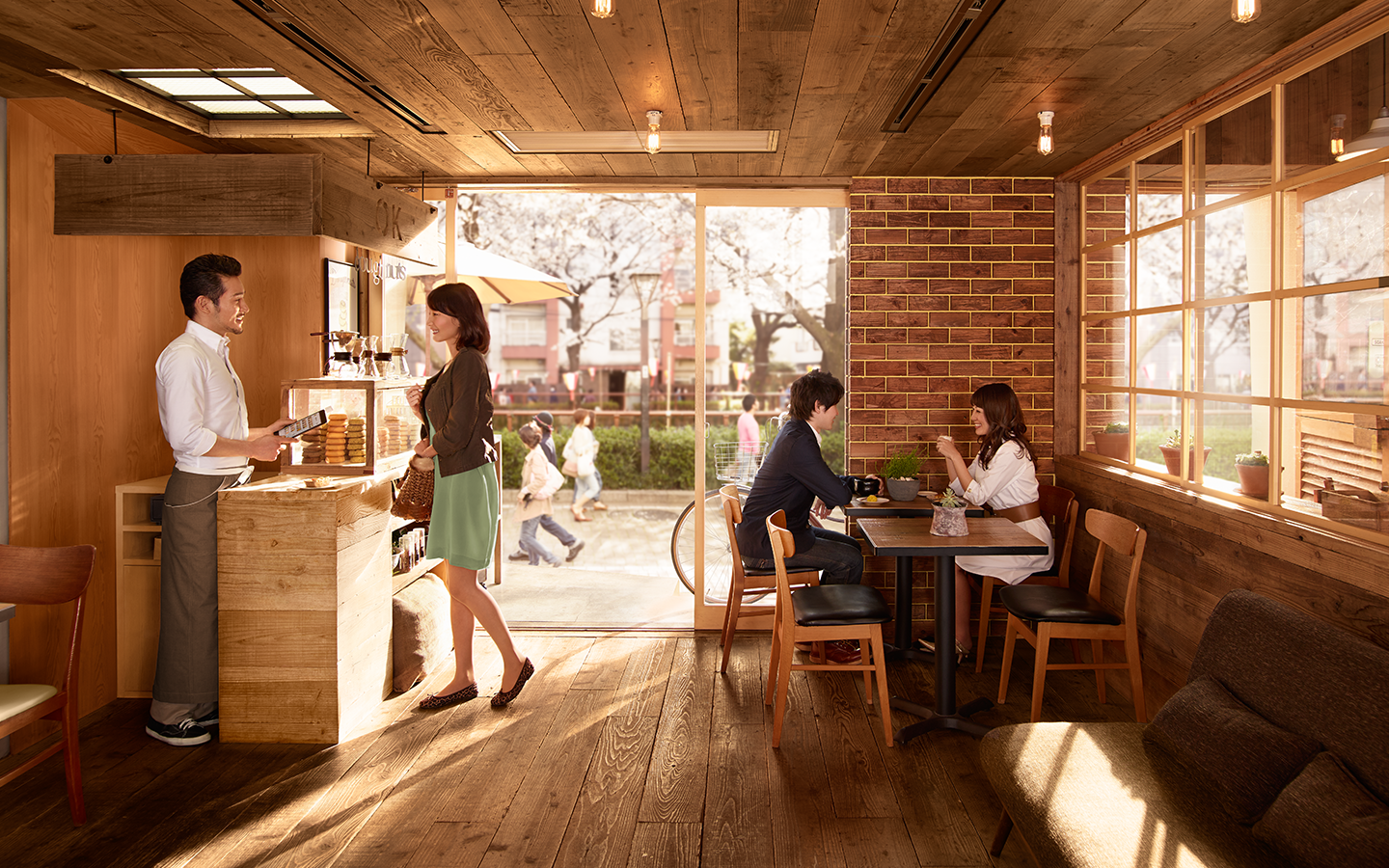 Wide photo of a cafe in Nakameguro, Tokyo using Square Register