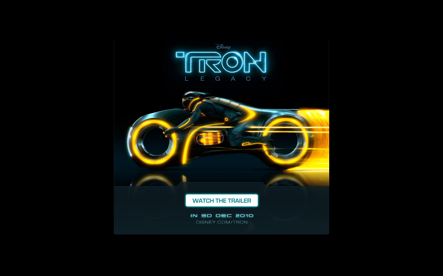 Email sent from Disney's TRON iAd